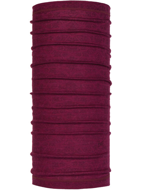 Buff Lightweight Merino Wool Neck Tube Siggy Purple Raspberry